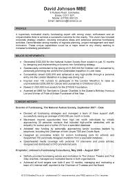Example Of A Profile In A Resume Sample Resume For General Management Diverse Markets Sample