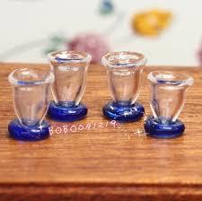 costo bicchieri di plastica dollhouse miniature cucina sala da pranzo 4 pz di bicchieri di