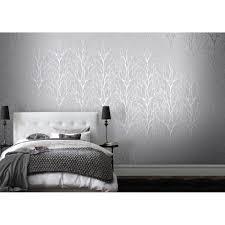 Gray Wallpaper Bedroom - i love wallpaper shimmer tree wallpaper soft grey silver