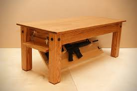 coffee table with hidden gun storage plans hiding in plain sight furniture to hide your guns alloutdoor