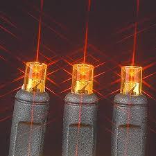 commercial grade led christmas lights black wire wide angle amber orange 50 bulb led christmas lights
