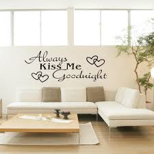 online get cheap kiss stickers aliexpress alibaba group black words wall stickers room art mural alawys kiss goodnight decal for home bedroom