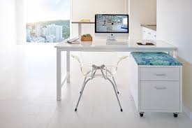 white lacquer desk home office contemporary with cabinets chic