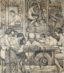 a rare look at how diego rivera turned sketches into his iconic