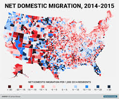 Northeast Map Usa by Census Bureau County Domestic Migration Map Business Insider