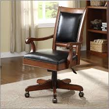 Wooden Desk Chair Wood Desk Chair With Casters Desk Home Design Ideas