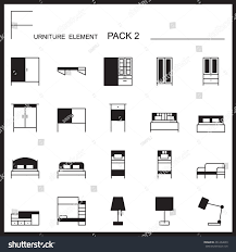 furniture home decorate line icons pack stock vector 461464609