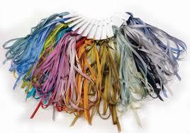dyed ribbon dyed silk ribbon for ribbon embroidery ribbonwork