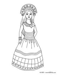 indian princess coloring pages hellokids