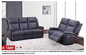 toff canapé meubles toff promotion canapé 3pl avec 2 relax électriques canapé