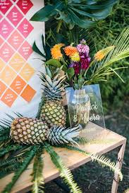 tropical themed wedding themed wedding in costa brava