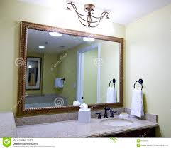 Large Mirror Large Mirror Above Sink Stock Photography Image 6431592