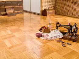 engineered parquet flooring glued white oak lacquered