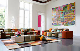 Cool Modern  Colorful Living Room Design From Roche Bobois - Creative living room design