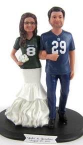 sports wedding cake toppers custom and personalized