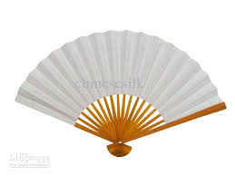white paper fans blank white paper fan diy program painting folding
