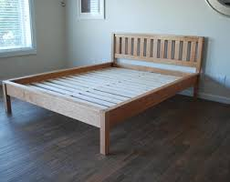 King Wooden Bed Frame Solid Wood Bed Frame King Or California King Handmade