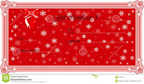 gift certificate vector royalty free stock photography image