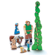 and the beanstalk wooden figures storytelling