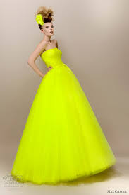 Yellow Dresses For Weddings Max Chaoul Couture 2013 Wedding Dresses Green Wedding Dresses