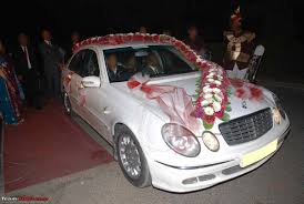 decorating my car for a marriage function team bhp