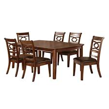 venetian worldwide carlton 7 piece warm cherry dining set cm3149t
