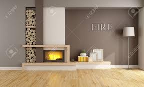 minimalist fireplace brown lounge with minimalist fireplace without furniture