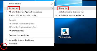 bureau disparu windows 7 windows 10 supprimer la barre de recherche windowsfacile fr