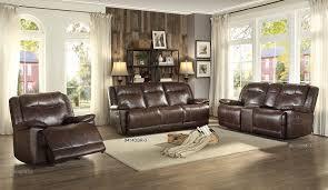 Reclining Living Room Sets Amazon Com Homelegance Triple Reclining Sofa In Dark Brown