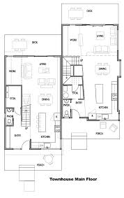 Home Layout Designer Townhouse Main Floor Plan Interior Comfortable Townhouse Main