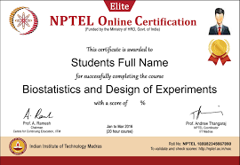 design of experiments individual course