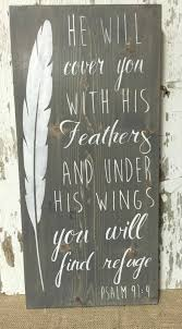 christian sign christian wood sign feather sign wooden