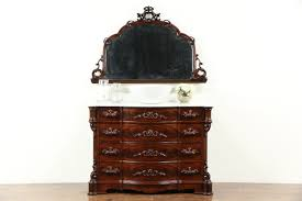 Antique Tiger Oak Dresser With Mirror by Victorian 1860 U0027s Antique Chest Or Dresser U0026 Mirror Marble Top