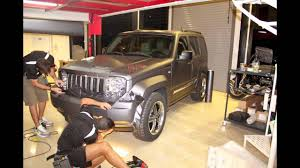 jeep matte grey 3m protect car wrap jeep cherokee kk with 3m matte dark grey
