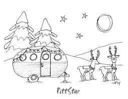 instant download holiday christmas scene retro travel trailer