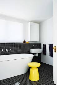 White Bathroom Decorating Ideas Bathroom Simple Cool Black White Bathroom Hexagonal Tile Bath