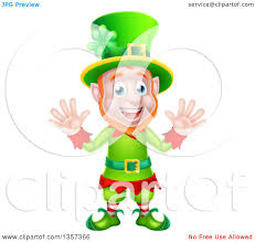 clipart of a green st patricks day leprechaun hat with a shamrock