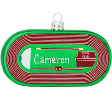 personalized track and field glass ornament hobbies christmas