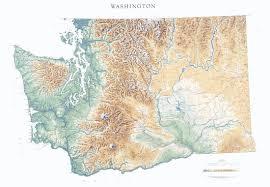 Washing State Map by Washington State Physical Map