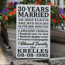 30 wedding anniversary gift best 25 30 year anniversary ideas on 25 year