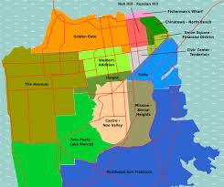 San Francisco Topographic Map by San Francisco Districts U2022 Mapsof Net
