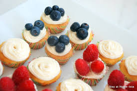 Flag Fruit Cake Stay At Home Ista July 4th Mini Cupcake Flag