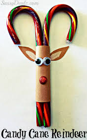 candy cane reindeer christmas craft or treat for kids winter