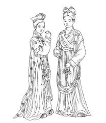 beautiful women coloring pages ancient china beautiful