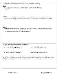 4th grade mixed math review by worksheet depot