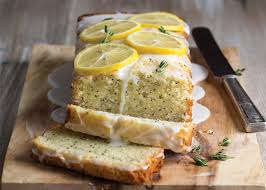 glazed lemon thyme poppy seed cake bake from scratch