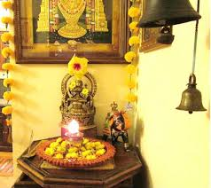 hindu decorations for home shalu prasad tanjore painting home studio temple bells interior
