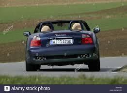 maserati convertible car maserati spyder v8 convertible blue open top driving