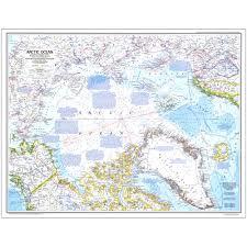Ocean Maps 1983 Arctic Ocean Map National Geographic Store
