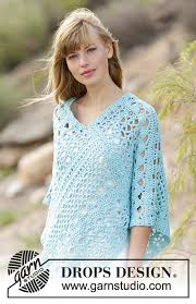 drops design poncho sky drops 168 13 free crochet patterns by drops design